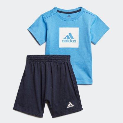 Conjunto Adidas Logo Summer Set Infantil