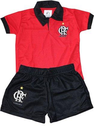Conjunto Polo Flamengo Torcida Baby