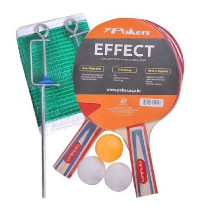 Kit Tenis De Mesa Poker Effect