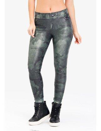 Legging Rola Moça Jeans Camuflada